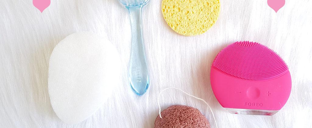 5 tipos de esponja/escova ideal pra higiene facial.